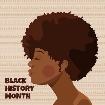 Ręcznie rysowane ilustracja miesiąca płaskiej czarnej historii