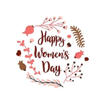Ręcznie rysowane ilustracja na międzynarodowy dzień kobiet.