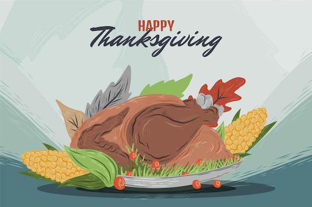 Ręcznie rysowane ilustracja na święto dziękczynienia