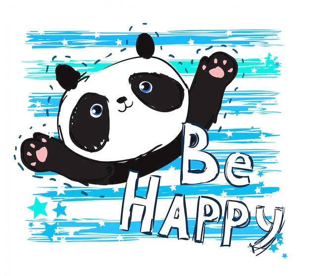Ręcznie rysowane ilustracja panda