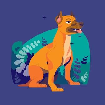 Ręcznie Rysowane Ilustracja Pitbull Darmowych Wektorów