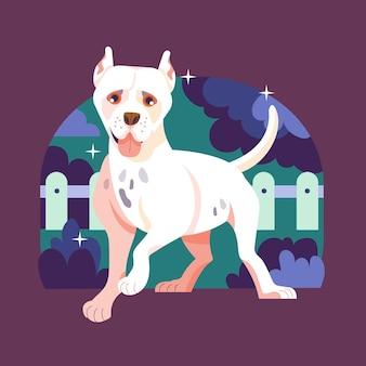 Ręcznie rysowane ilustracja pitbull