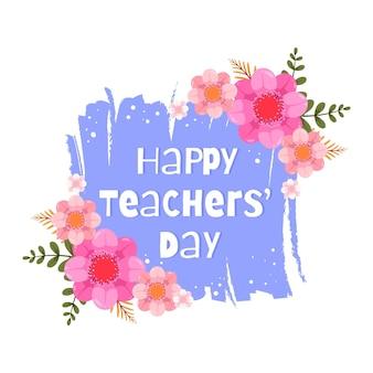 Ręcznie rysowane ilustracja płaski dzień nauczycieli