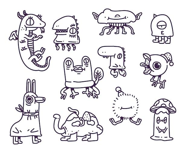 Ręcznie rysowane ilustracja potwór