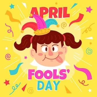 Ręcznie rysowane ilustracja prima aprilis