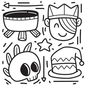 Ręcznie rysowane ilustracja projekt doodle halloween