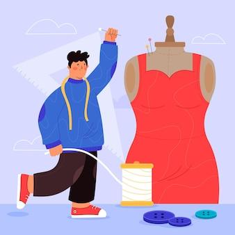 Ręcznie rysowane ilustracja projektant mody