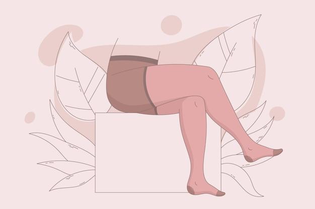 Ręcznie rysowane ilustracja rajstopy rajstopy
