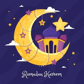Ręcznie rysowane ilustracja ramadan kareem