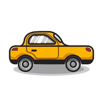 Ręcznie rysowane ilustracja samochód sedan