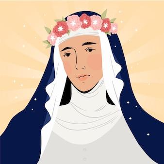 Ręcznie rysowane ilustracja santa rosa de lima