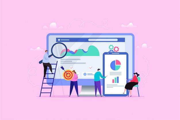Ręcznie rysowane ilustracja search engine optimization