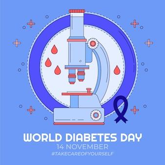 Ręcznie rysowane ilustracja światowego dnia cukrzycy
