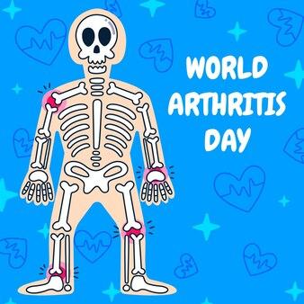 Ręcznie rysowane ilustracja światowego dnia zapalenia stawów