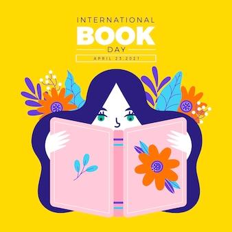 Ręcznie rysowane ilustracja światowy dzień książki
