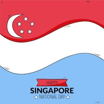 Ręcznie Rysowane Ilustracja święto Narodowe W Singapurze Darmowych Wektorów