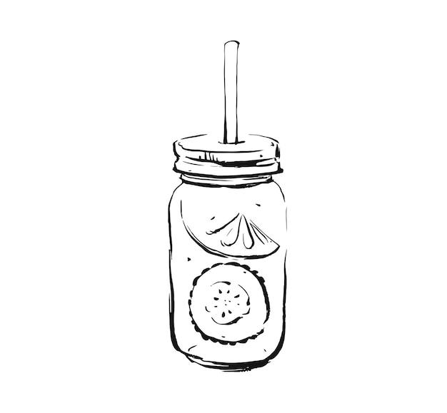 Ręcznie rysowane ilustracja szkic tuszem do gotowania artystycznego streszczenie