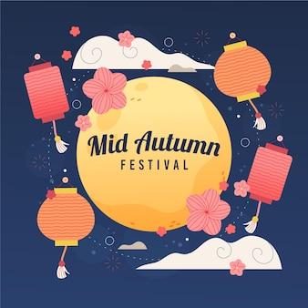 Ręcznie rysowane ilustracja w połowie jesieni
