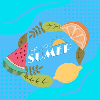 Ręcznie rysowane ilustracja witaj lato