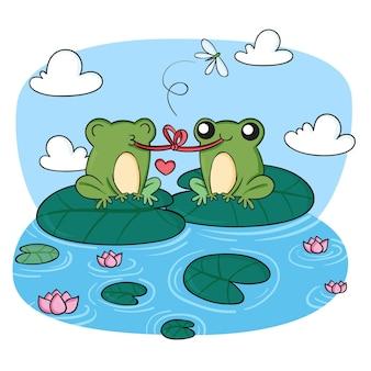 Ręcznie rysowane ilustracja żaba