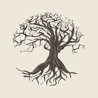 Ręcznie rysowane ilustracja życia drzewa