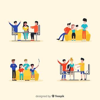 Ręcznie rysowane ilustracje dzień przyjaźni