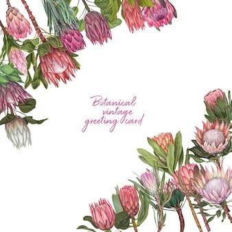 Ręcznie rysowane ilustracji wektorowych kwiat