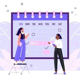 Ręcznie rysowane ilustrowana koncepcja planowania biznesowego
