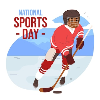 Ręcznie rysowane indonezyjski narodowy dzień sportu ilustracja