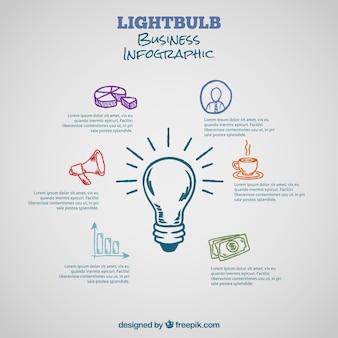 Ręcznie rysowane infografika dla biznesu
