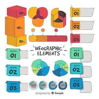 Ręcznie rysowane infografikę element kolekcji