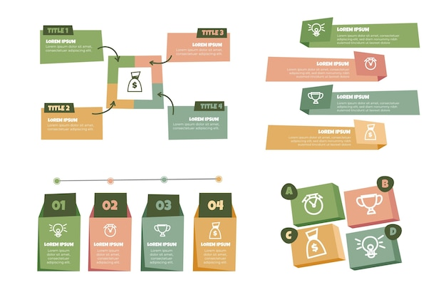 Ręcznie rysowane infografiki biznesowe