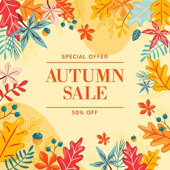 Ręcznie rysowane jesień sprzedaż