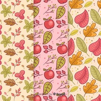 Ręcznie rysowane jesień wzór kolekcji