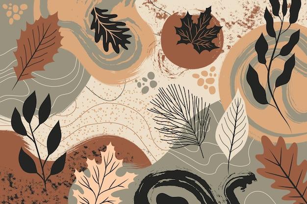 Ręcznie rysowane jesienne tło
