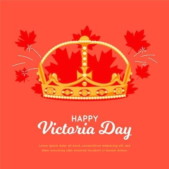 Ręcznie rysowane kanadyjska ilustracja dzień wiktorii