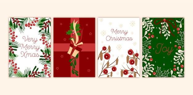 Ręcznie rysowane kartki świąteczne