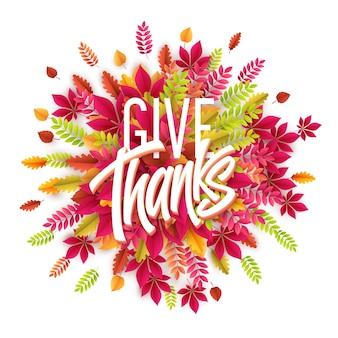 Ręcznie rysowane karty happy thanksgiving day