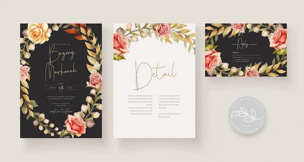 Ręcznie rysowane karty ślubne