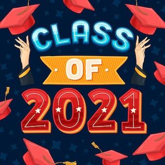 Ręcznie rysowane klasy napisu 2021