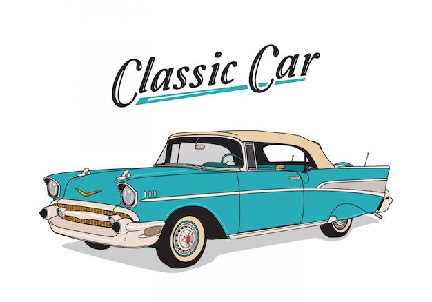 Ręcznie rysowane klasyczny samochód