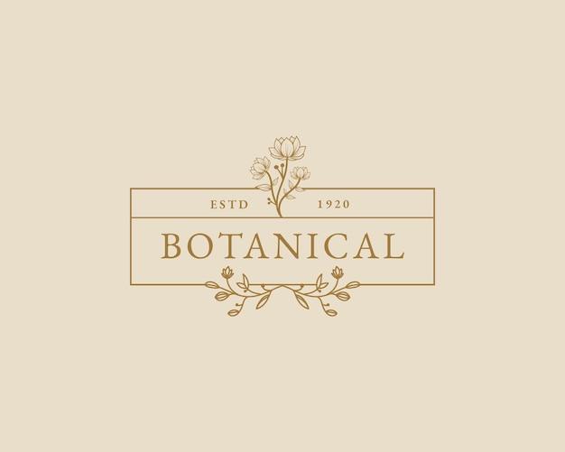 Ręcznie rysowane kobiece piękno minimalny kwiatowy botaniczny logo szablon spa salon skóra pielęgnacja włosów marka