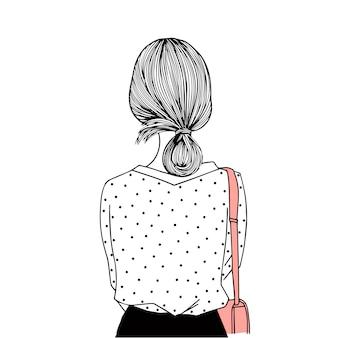 Ręcznie rysowane kobiety na białym tle