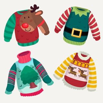 Ręcznie rysowane kolekcja brzydki sweter