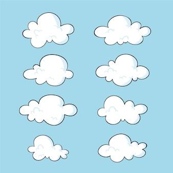 Ręcznie rysowane kolekcja chmur
