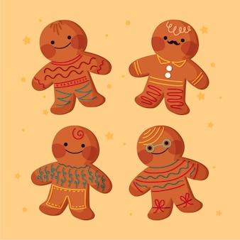 Ręcznie rysowane kolekcja cookie piernika