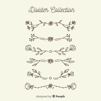 Ręcznie rysowane kolekcja dzielnik ornamentu