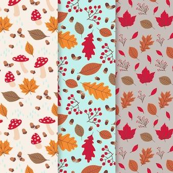 Ręcznie rysowane kolekcja jesień wzór