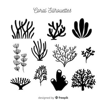 Ręcznie rysowane kolekcja koralowców