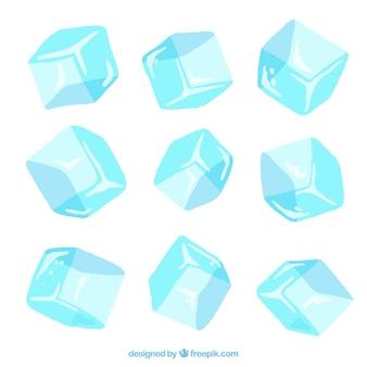 Ręcznie rysowane kolekcja kostki lodu